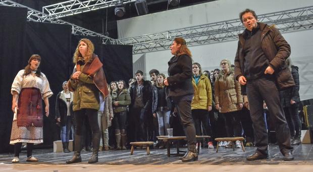BiH; 07.03.16. Mostar;Kosaca, Proba opere Diva D. Filipovica, Snimio:Stole Lasic